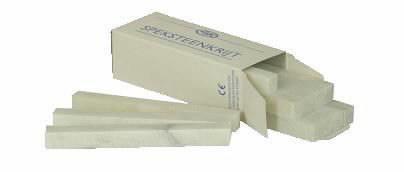 märkekriit 127x13x5mm seebikivist, valge (tükina), Vlamboog