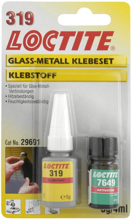 Metalli+klaasiliim LOCTITE AA 319 5g + 7649 4ml, Loctite