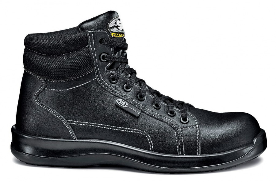Aizsargapavi Black Fobia High S3 SRC, meln, 45, Sir Safety System