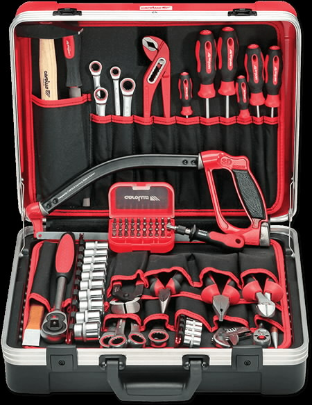 Tool case + Universal set BASIC, 70 pcs, Carolus