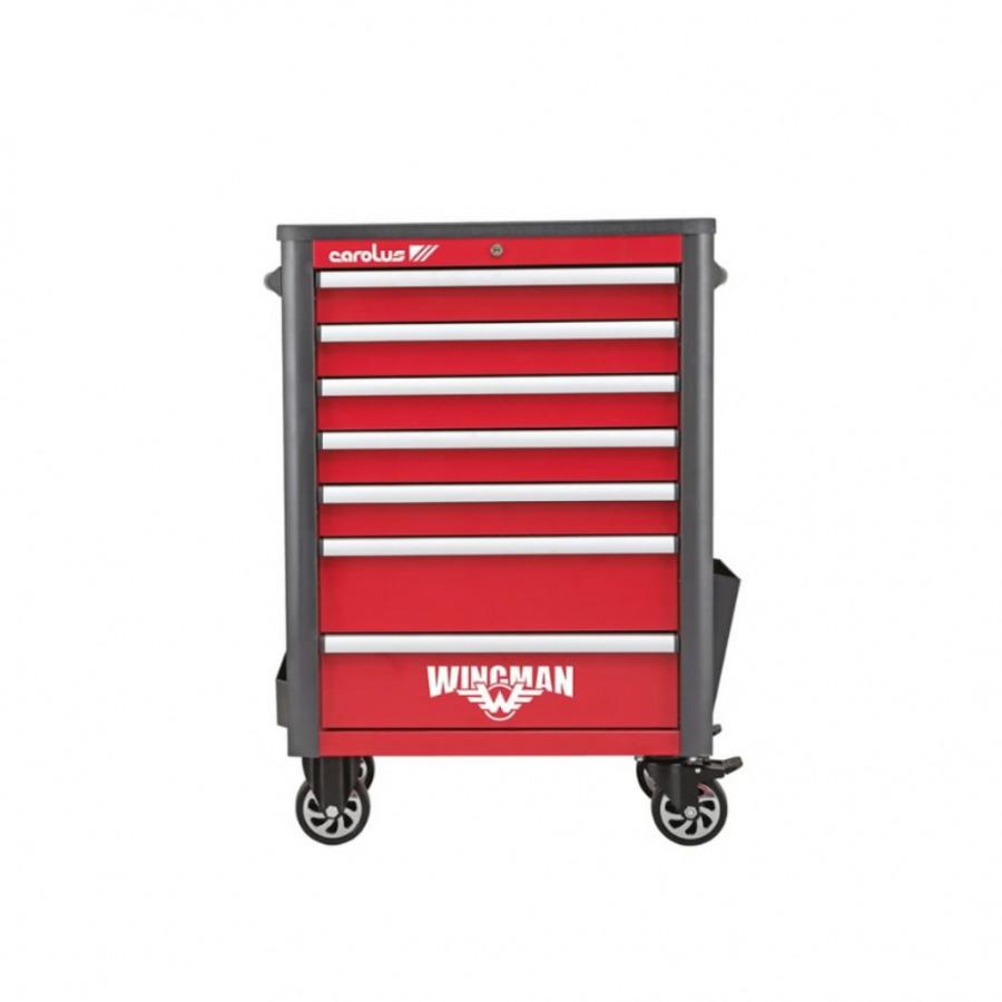 Workshop trolley WINGMAN 7 drawers 1034x724x470mm 2057.10, Carolus