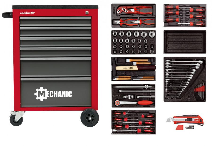 tööriistakäru MECHANIC tööriistadega 80-osa kmpl, Carolus