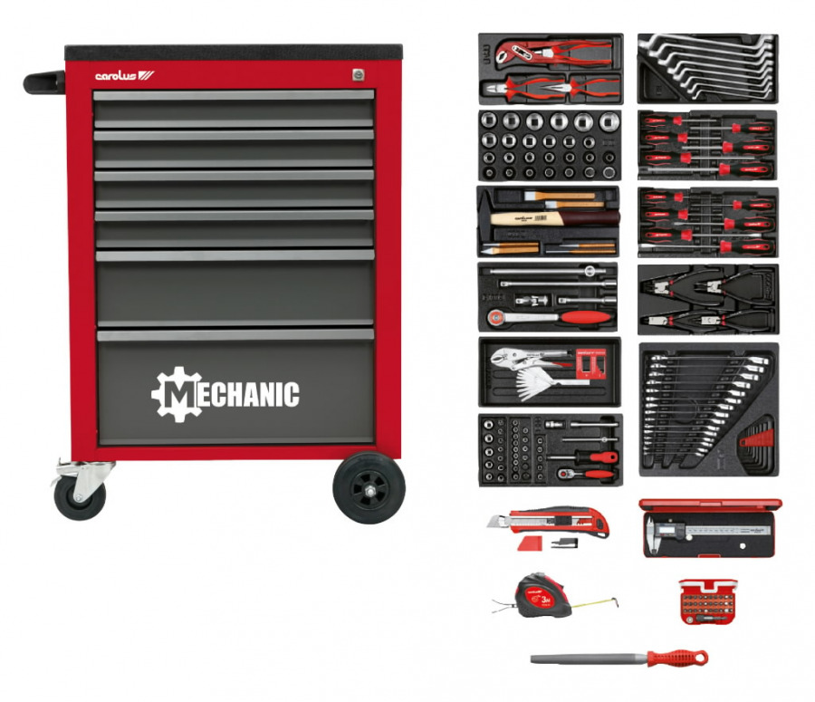 tool trolley 2046.10 with tool sortiment 160pcs, Carolus