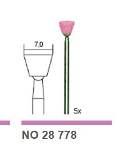 Antgalis šlifavimui  Ø 7 mm, karborundinis, 5 vnt., Proxxon