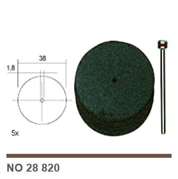 Diskelis pjovimui Ø 38 mm su laikikliu, 5 vnt., Proxxon