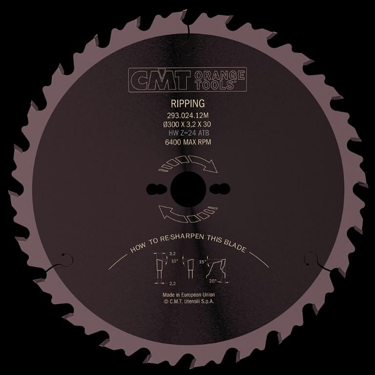 Diskas pjovimo 315x3,2x30 Z28 HM, CMT