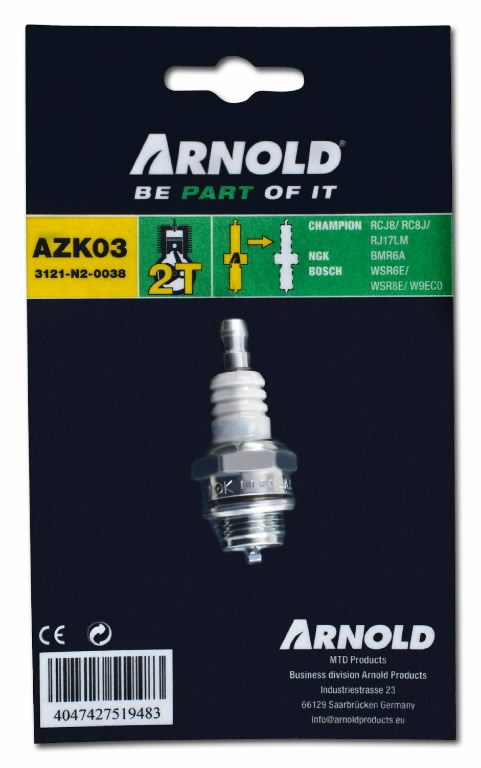 Spark plug ZK3, MTD PRODUCTS AG