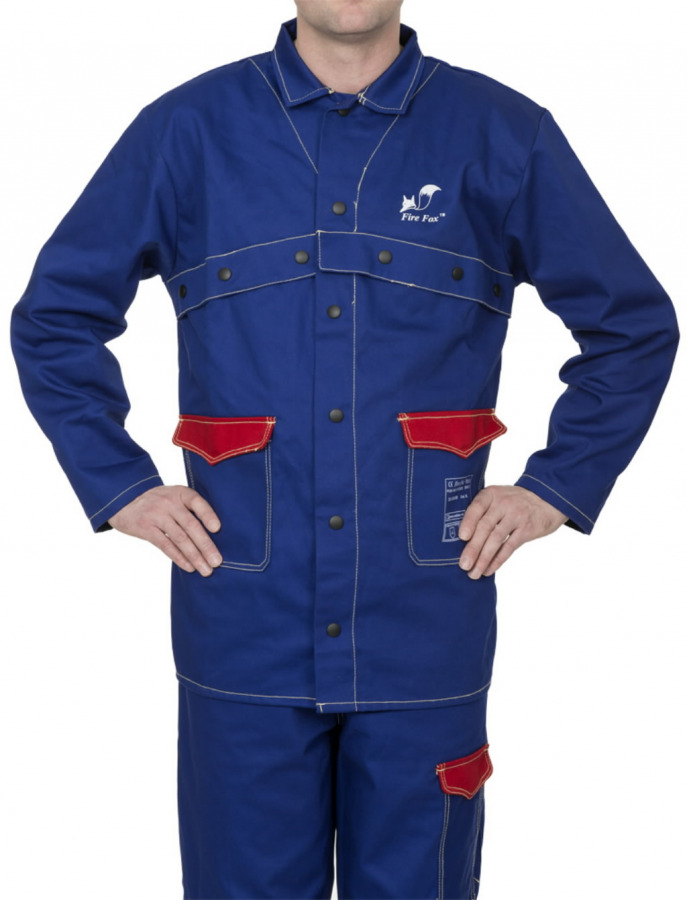 Keevitaja jakk 33-2300 Fire Fox, sinine, 2XL, Weldas
