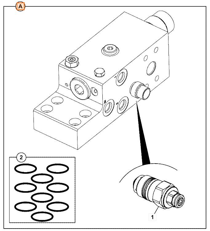 Kaitseklapp noole käsivarra silindrile (hüdrolukk, HBCV), JS