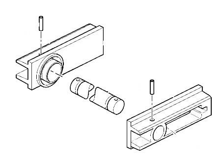 Roomiku juhtratta kinnituse komplekt JZ235,JS160-200, JCB