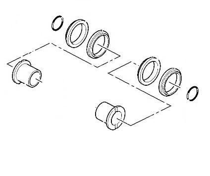 Roomiku juhtratta tihendite komplekt, JZ140, JS160-200, JCB