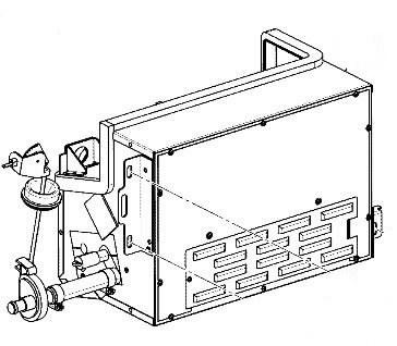 Šildytuvas kabinos, mazgas, JCB