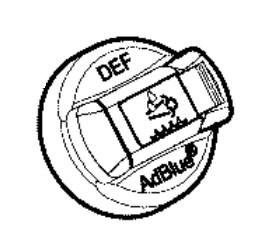 Dangtelis Adblue rezervuaro su raktu, JCB