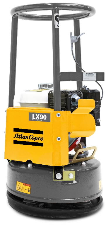 Vibroplaat LX 90 ümmarguse alusplaadiga, Atlas Copco