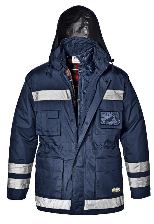 Talvejope 42008 Police, sinine, helkuritega, 3XL, Sir Safety System
