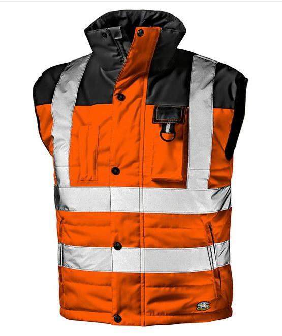 Liemenė Spirit didelio matomumo, oranžinė/juoda L, Sir Safety System
