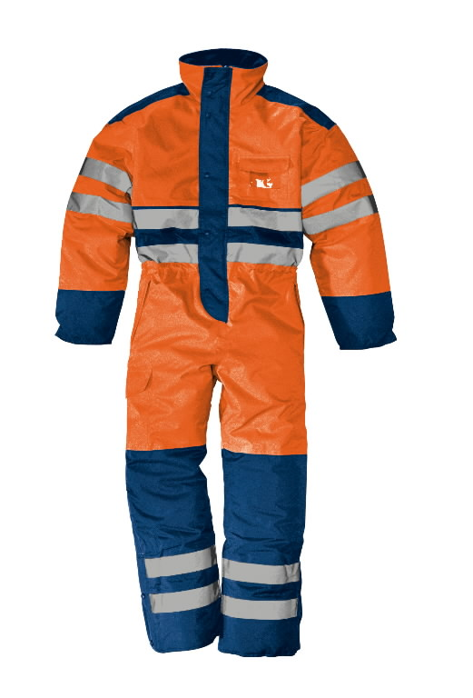 Žieminis kombinezonas Rowaniemi, oranžinė/t.mėlyna, XL, Sir Safety System
