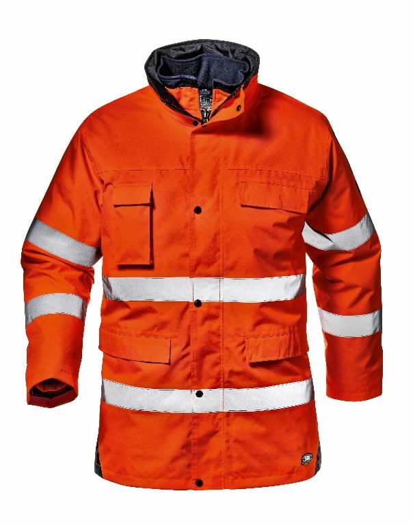 Žieminė striukė Motorway split, oranžinė, L, Sir Safety System
