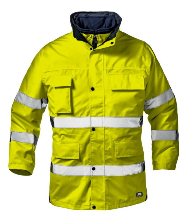 Kõrgnähtav talvejope Motorway Split, kollane, Sir Safety System