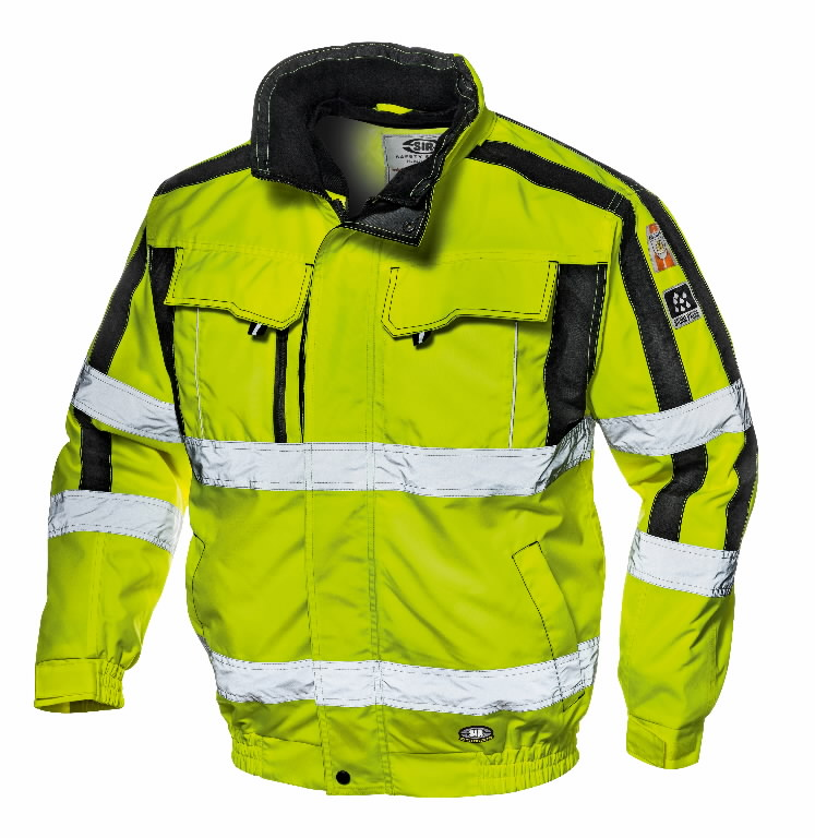Hi. vis. winterjacket 4 in 1 Contender, yellow, M, Sir Safety System