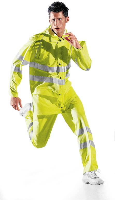 Lietaus striukė Glamour, geltona, S, Sir Safety System