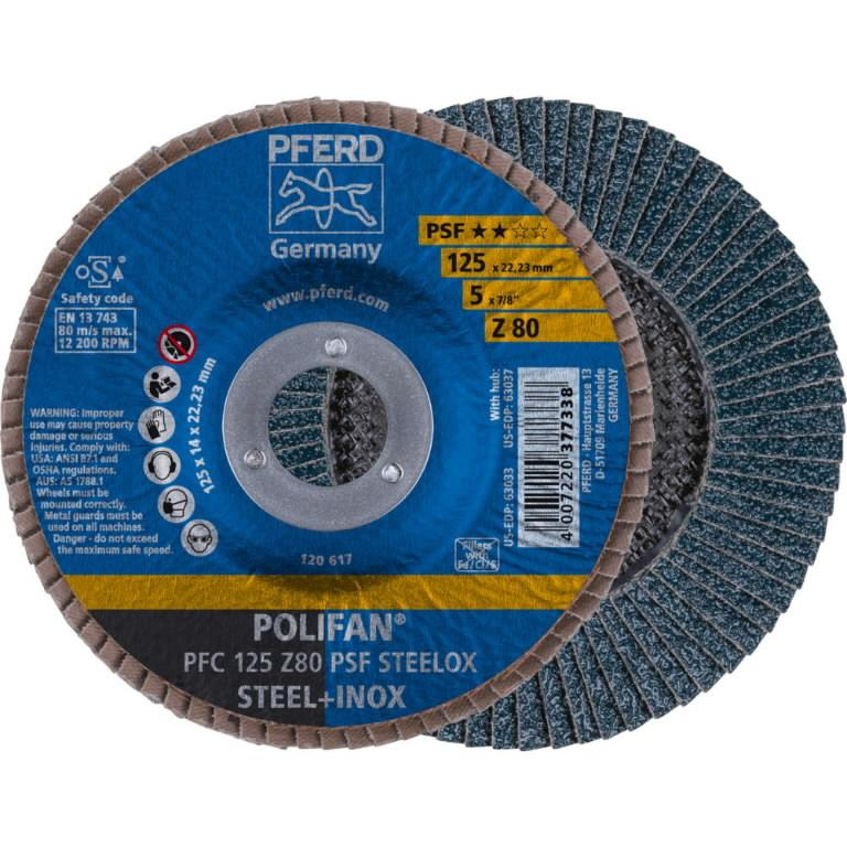 Diskas vėduoklinis 125x22 Z80 PS-F, Pferd