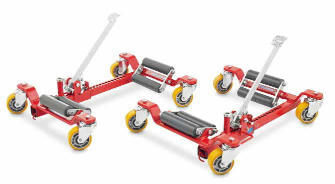 Wheel trolley, bigger rollers and polyrethane wheels, OMCN