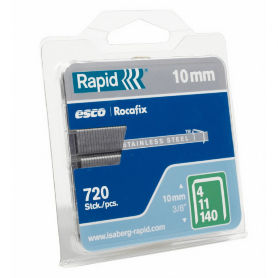 klambrid 140/6 970tk, 10,6x1,3mm, roheline, blisterpakend, Rapid