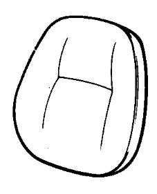 Rinkinys sėdynės atlošo, JCB