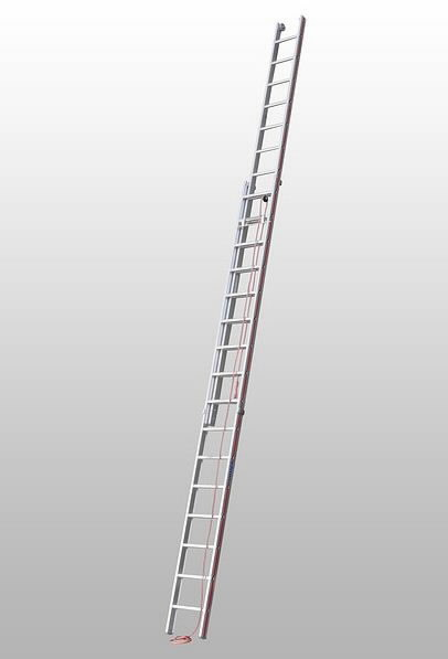 Rope-operated extension ladder, two-section, Hymer