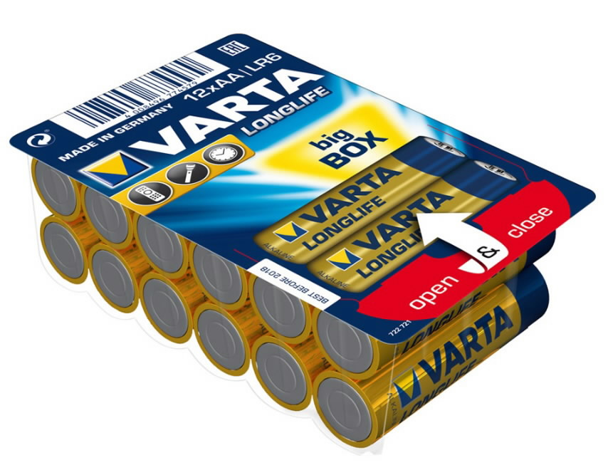 Baterija AA/LR06 Longlife Varta 12 vnt 4106, Other