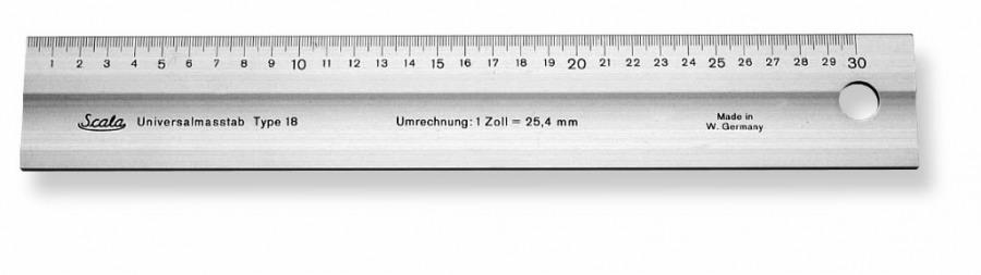 joonlaud mudel 418 600/50/5,0mm, lai, alumiinium, Scala