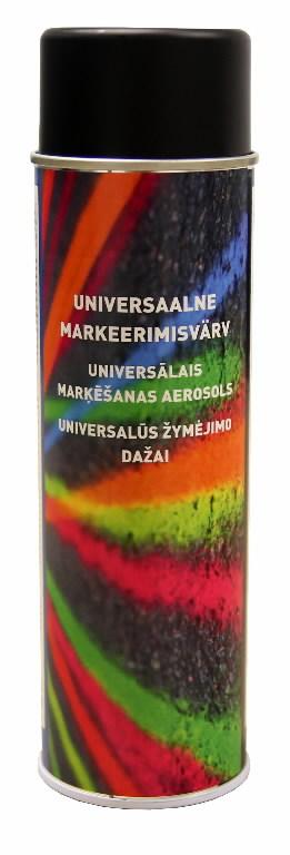 Universalūs žymėjimo dažai Marking spray, juoda 500ml, MOTIP