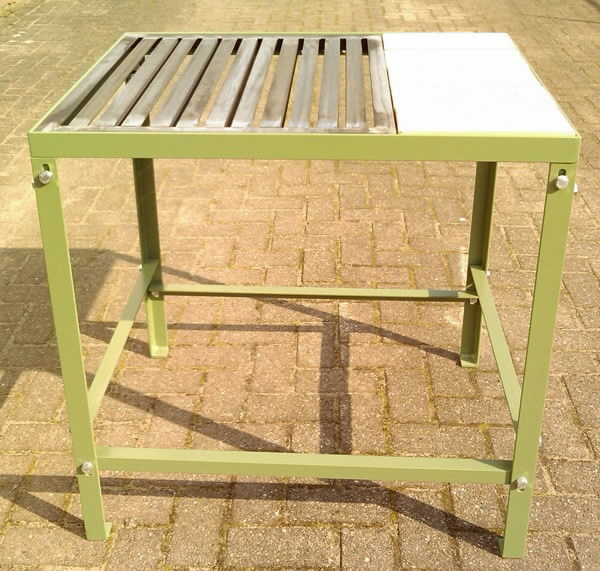 Welding table with grill top and stones 63x85x80cm Cepro, Cepro International BV