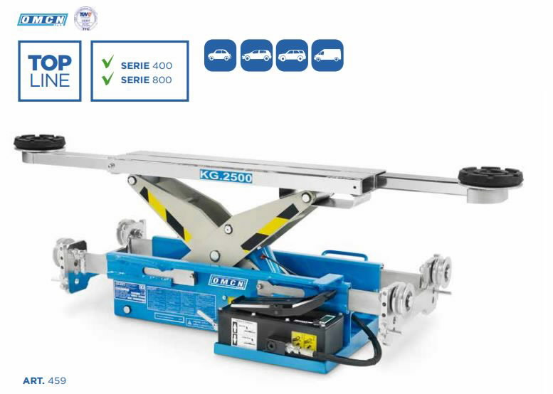 Jacking beam capacity 2500 kg with air-hydraulic pump, OMCN