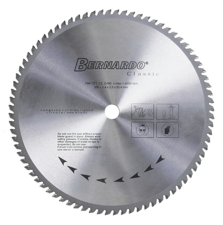 saeketas metallile 355 mm Z80 DRC 355, Bernardo