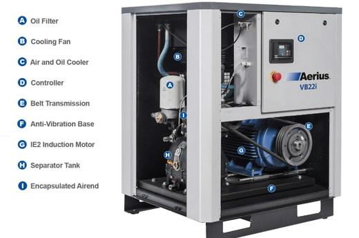 Sraigtinis  kompresorius 11kW VB11i-8, Ingersoll-Rand