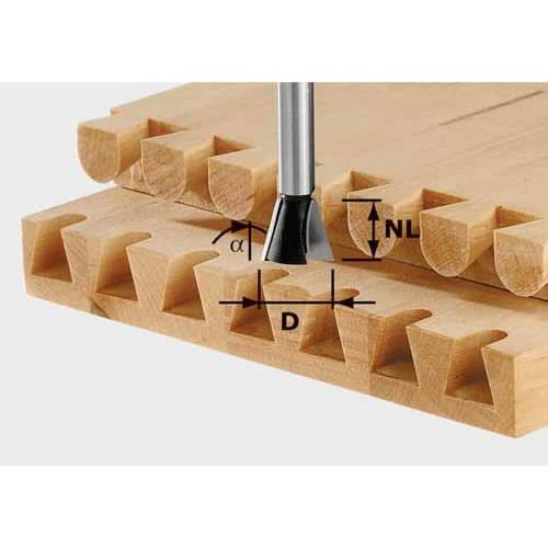 Galinė/stačiakampių junginių freza HS su 8 mm kotu HS S8 D14, Festool