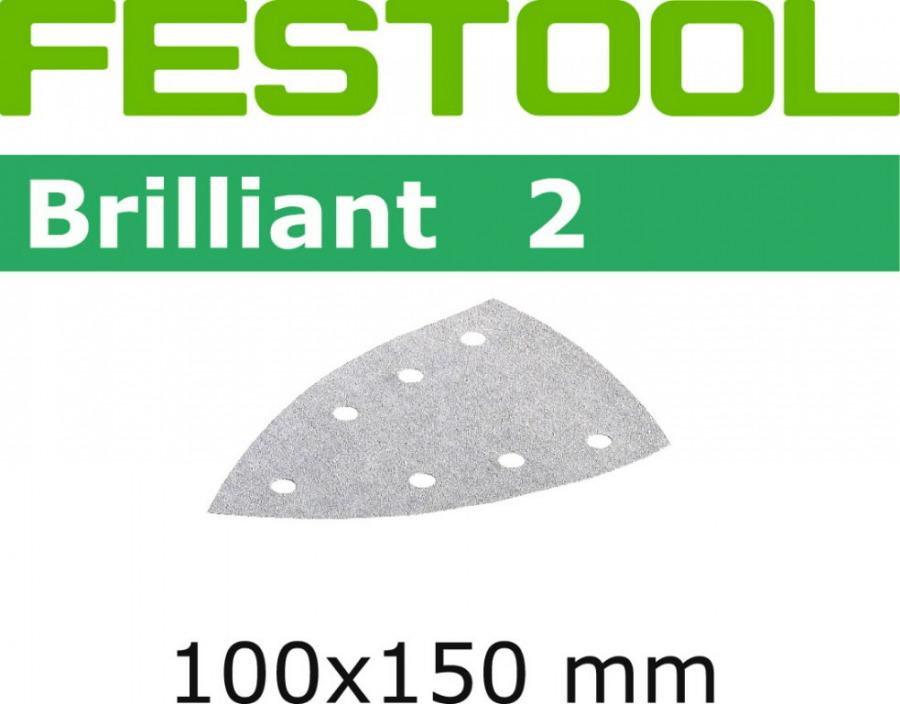 Lihvpaberid BRILLIANT 2 / DELTA  / P180 / 100tk, Festool