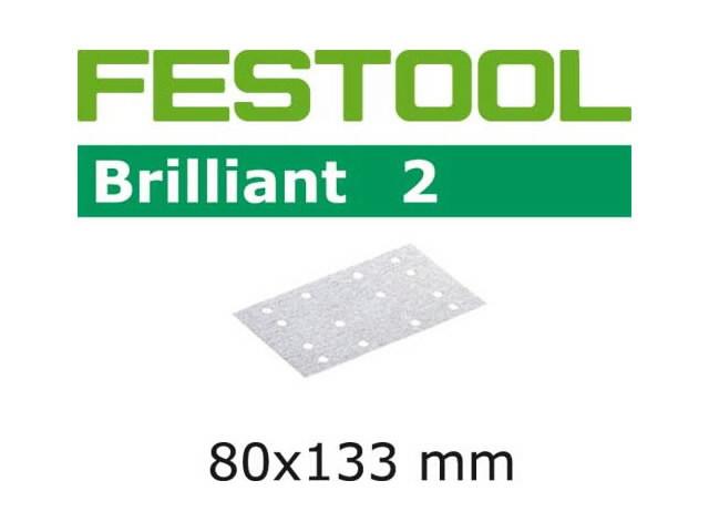 Lihvpaberid BRILLIANT 2 / STF 80x133/14 / P100 / 100tk, Festool