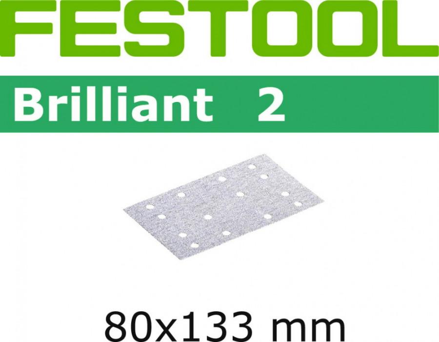 Lihvpaberid BRILLIANT 2 / STF 80x133/14 / P80 / 10tk, Festool