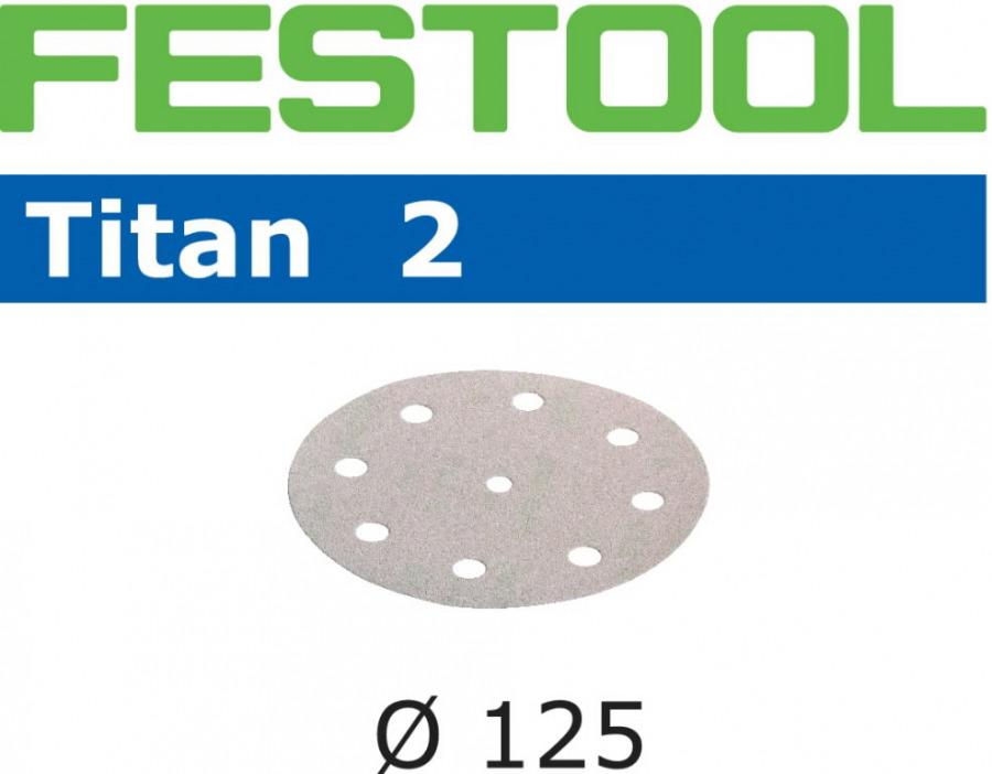 Lihvkettad TITAN 2 / STF D125/90 / P400 / 100tk, Festool