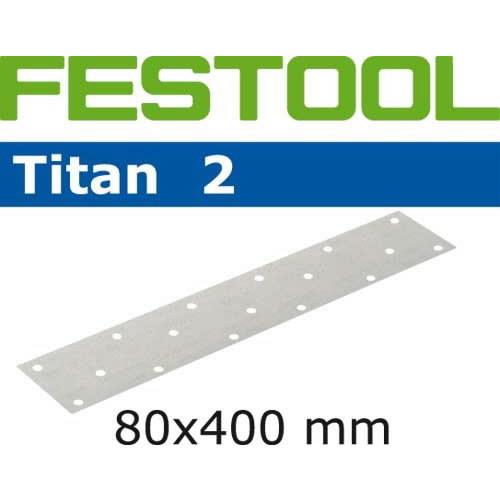 Lihvpaberid TITAN 2 / 80x400 / P120 / 50tk, Festool