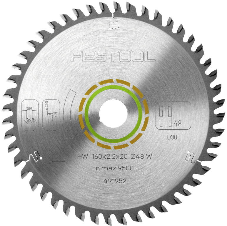 Saw blade 260x2,5x30, W80, -5°. Wood, veneer, Festool