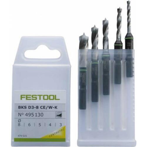 Grąžtų rinkinys BKS D 3-8 CE/W-K, Festool