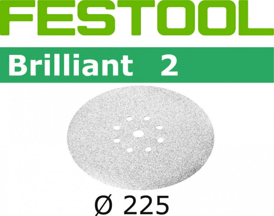 Šlif. popierius Brilliant (Planex) STF-D225/8-P120-BR, Festool