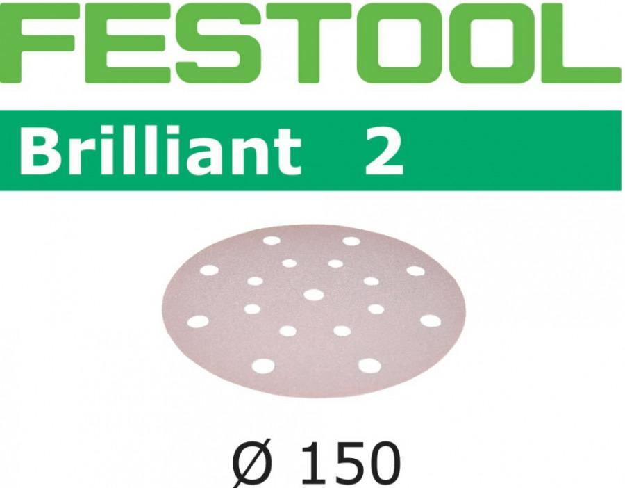 Lihvkettad BRILLIANT 2 / STF D150 / P180 / 10tk, Festool