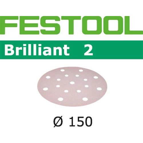 Šlif.popierius Brill/2 STF D150/16 P220 BR2, Festool