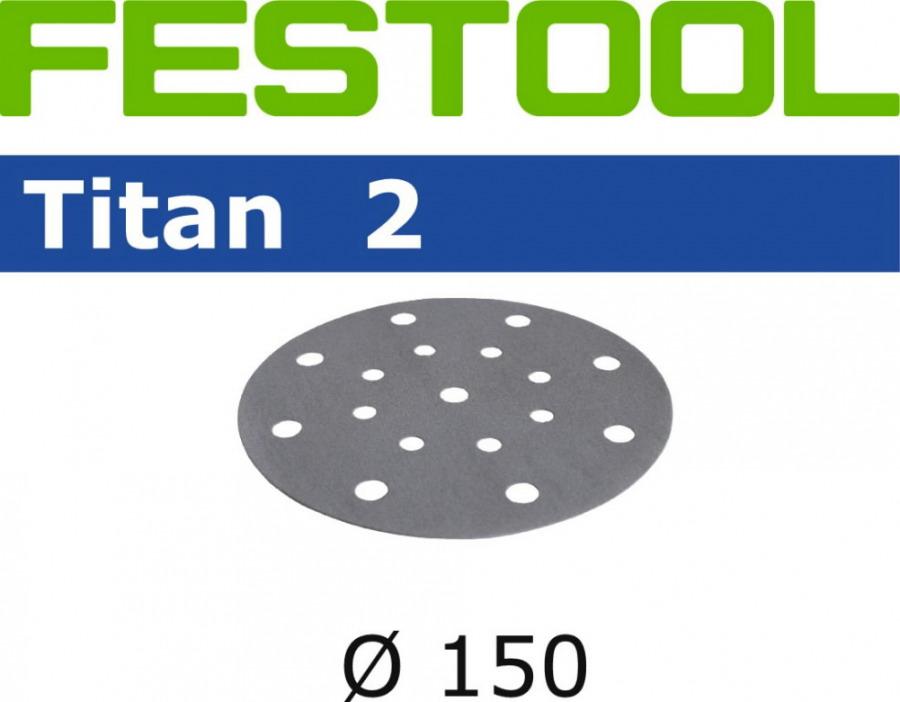 Šlifavimo diskas  TITAN 2 STF D150/16 / P180 / 100vnt, Festool