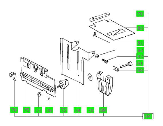 Pakėlimo mechanizmas (šarnyras) MFT/3, Festool
